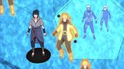 Kakashi forma uma estratégia ao ver a Esfera Gigante