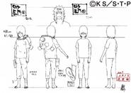 Arte Pierrot - Nagato Criança