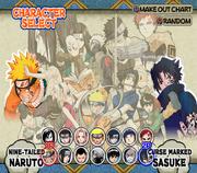 Naruto Ultimate Ninja Selecion de personajes