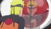 Naruto demuestra su determinación a Kurama