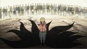 Naruto siendo despreciado en su niñez debido al Nueve Colas
