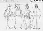 Arte Pierrot - Naruto e Sasuke (Kimono)