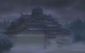 Shiromari transformado en el castillo