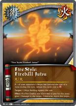 Elemento Fuego Jutsu Gran Bola de Fuego ST