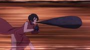 Kurotsuchi usando el Elemento Lava