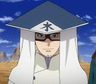 Chōjurō con su vestimenta de Mizukage