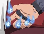 Desellado de los Cinco Elementos Usado por Jiraiya Anime