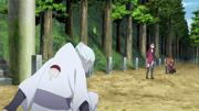 Shin encontra Sarada e Chōchō