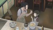 Shiseru and Sora cooking