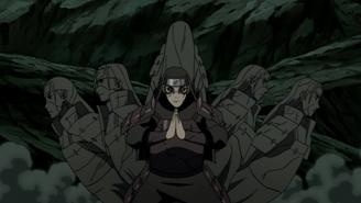 Hashirama forming multiple wood clones