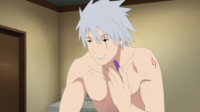 Kakashi sin su máscara