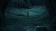 Zetsu em direção ao túmulo de Madara