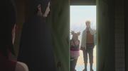 Chōchō y Naruto entrando a la Torre del Paso