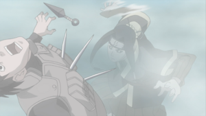 Haku attacks shinobi