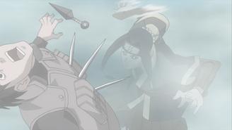 Haku attacks shinobi