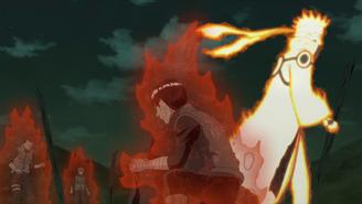 Naruto powers Lee up
