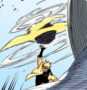 Arte Sabio Rasen Shuriken de Polvo y Escamas Manga