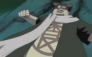 Chōji a punto de golpear a un ninja de Iwa