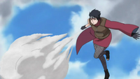 Elemento Lava Jutsu de Congelamiento de Cal Anime