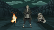 Tsunade protège Naruto et Killer B