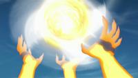 Elemento Viento Super Gran Bola Rasen Shuriken Amarillo Anime