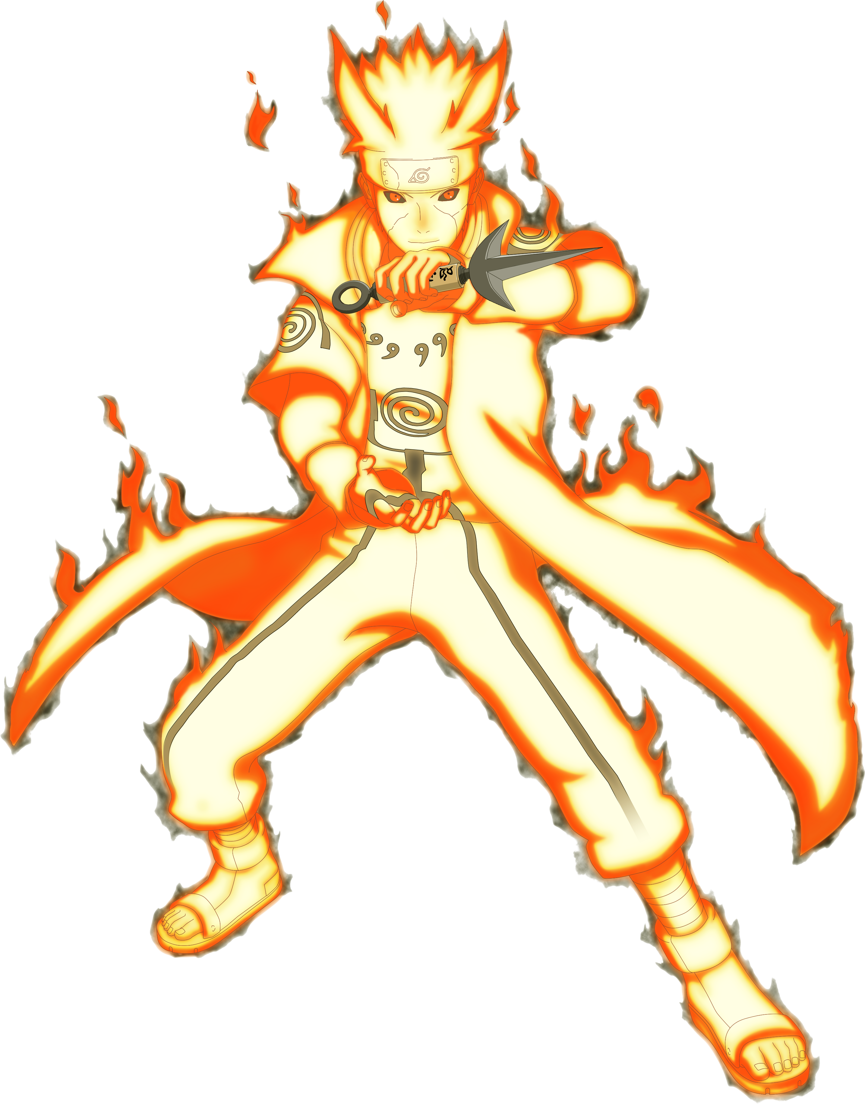 Nine Tails Chakra Mode Minato