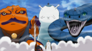 Naruto, Sakura y Sasuke invocan a sus criaturas