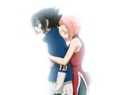 Sakura abraza a Sasuke y le pide que se detenga
