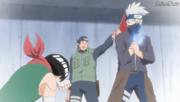 Guy es derrotado por Kakashi en los Exámenes Chūnin