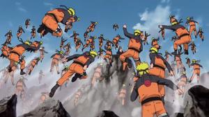 Jutsu Multiclones de Sombras Anime