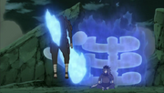 Madara perfura o clone de Hashirama
