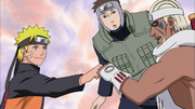 Naruto mostrando a B o treinamento