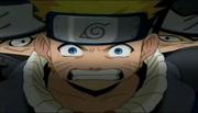Naruto rodeado por los Hermanos Diabólicos