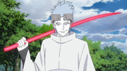 Urashiki con su bastón de chakra