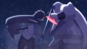 Kinshiki lutando com Sasuke