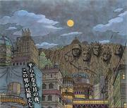 Konoha en reconstruccion manga