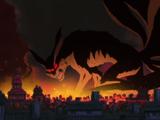 Нападение Девятихвостого Демона-Лиса