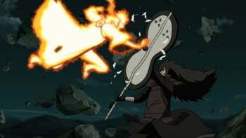 Madara intercepts the attack…