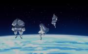 Urashiki, Kinshiki y Momoshiki llegan a la Tierra