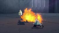 Liberação de Fogo - Técnica da Grande Bola de Fogo (Hiruzen - Game)