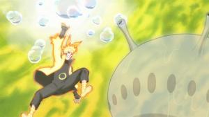Arte Sabio Rasen Shuriken de Ácido y Burbujas Anime