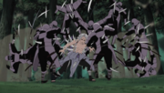 Kimimaro affrontant des samouraï