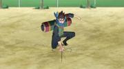 Konohamaru usando el Jutsu de Invocación
