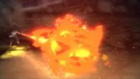 Liberação de Fogo - Técnica do Projétil de Fogo (Hiruzen - Game)