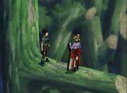 Shikamaru es salvado por Temari