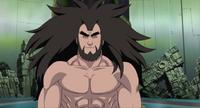 Shinno tras usar el Chakra Oscuro