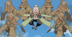 Jutsu Clon de Roca Anime
