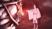 Momoshiki absorbiendo el Chakra de Kurama de Naruto