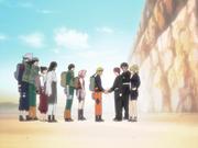 Naruto se despede dos Irmãos da Areia