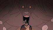 Gyūki alimentándose de la soledad de su Jinchūriki